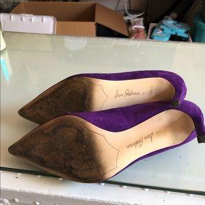 Sam Edelman Shoes - Sam Edelman Purple Suede Heels - size 9